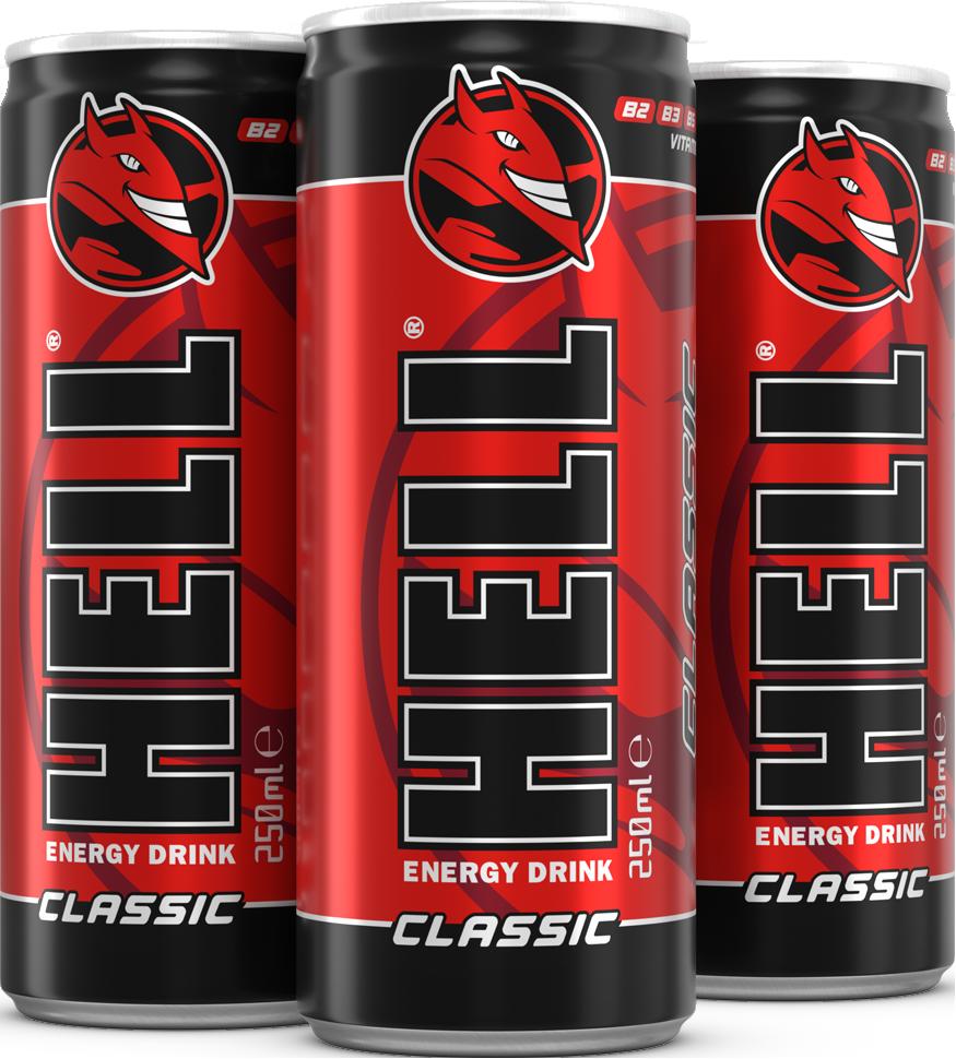 HELL Energy Drink - Classic 250ML x 24 Cans Wholesale - Enerjik Grupo